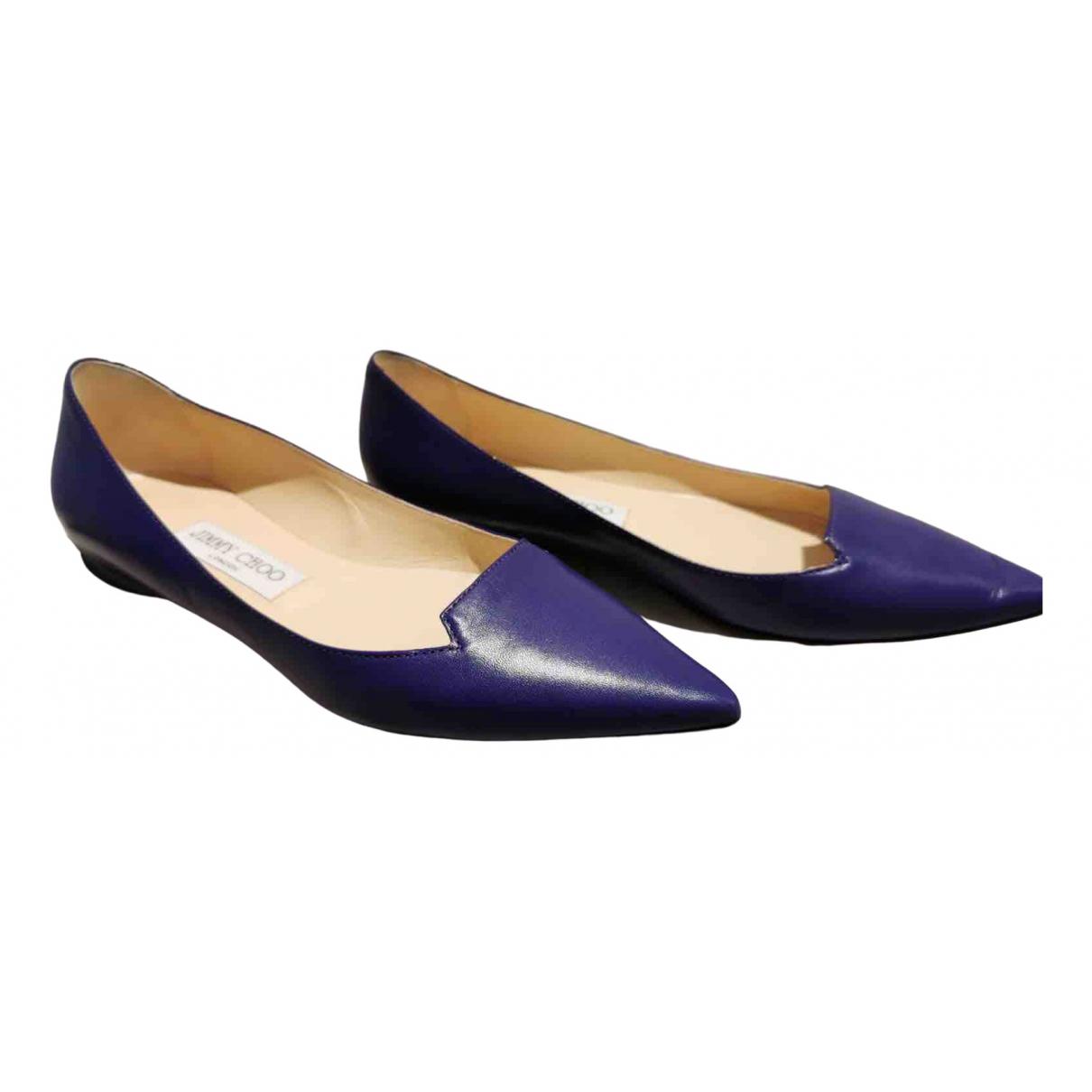 Jimmy Choo - Ballerines   pour femme en cuir - violet