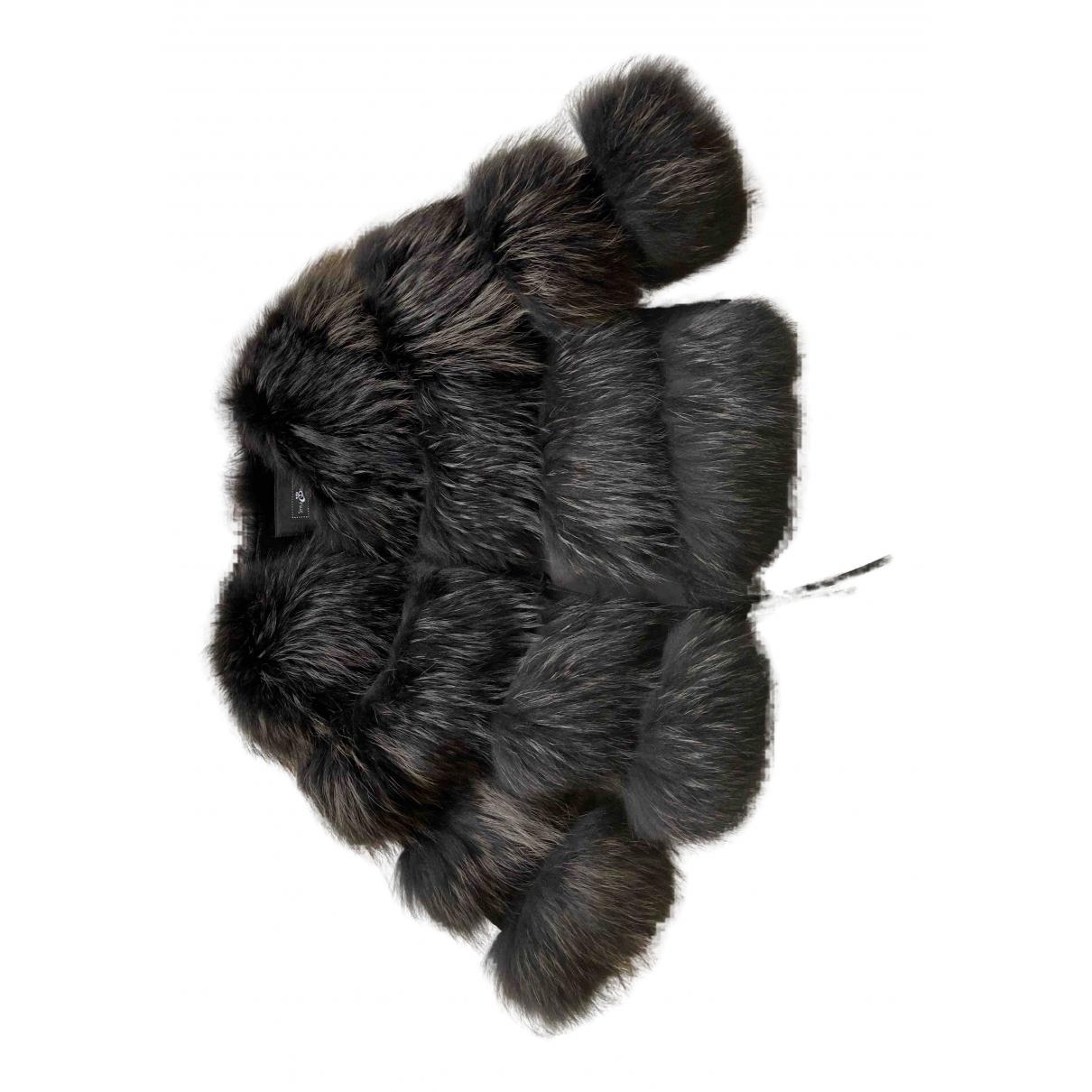 - Manteau   pour femme en racoon - noir