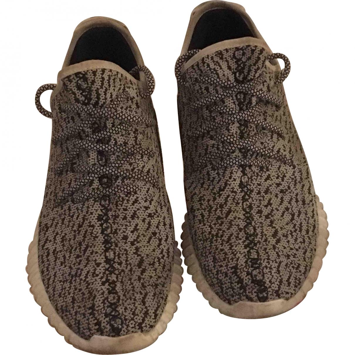 Yeezy X Adidas - Baskets   pour homme en suede - gris