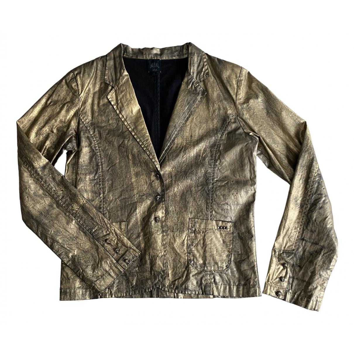 Swildens - Veste   pour femme en coton - dore