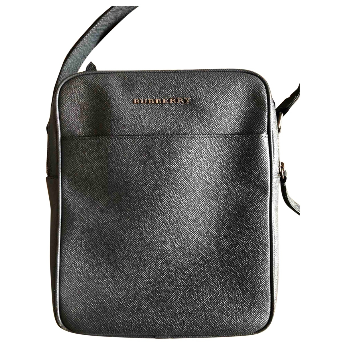 Burberry \N Anthracite Leather bag for Men \N
