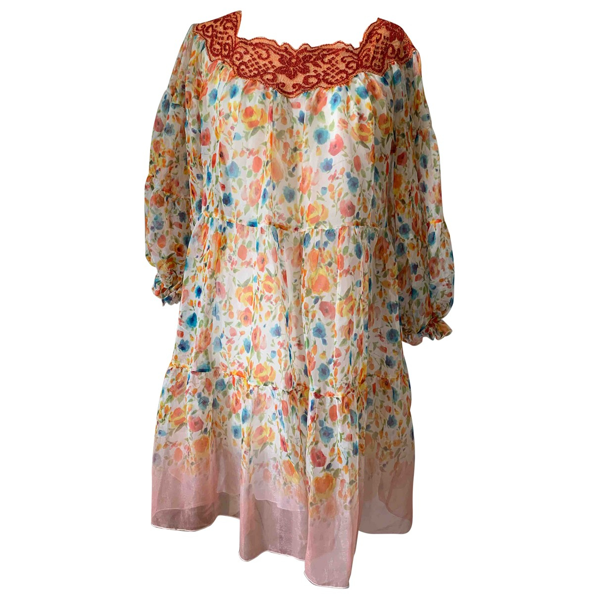 Ermanno Scervino \N Kleid in  Bunt Seide