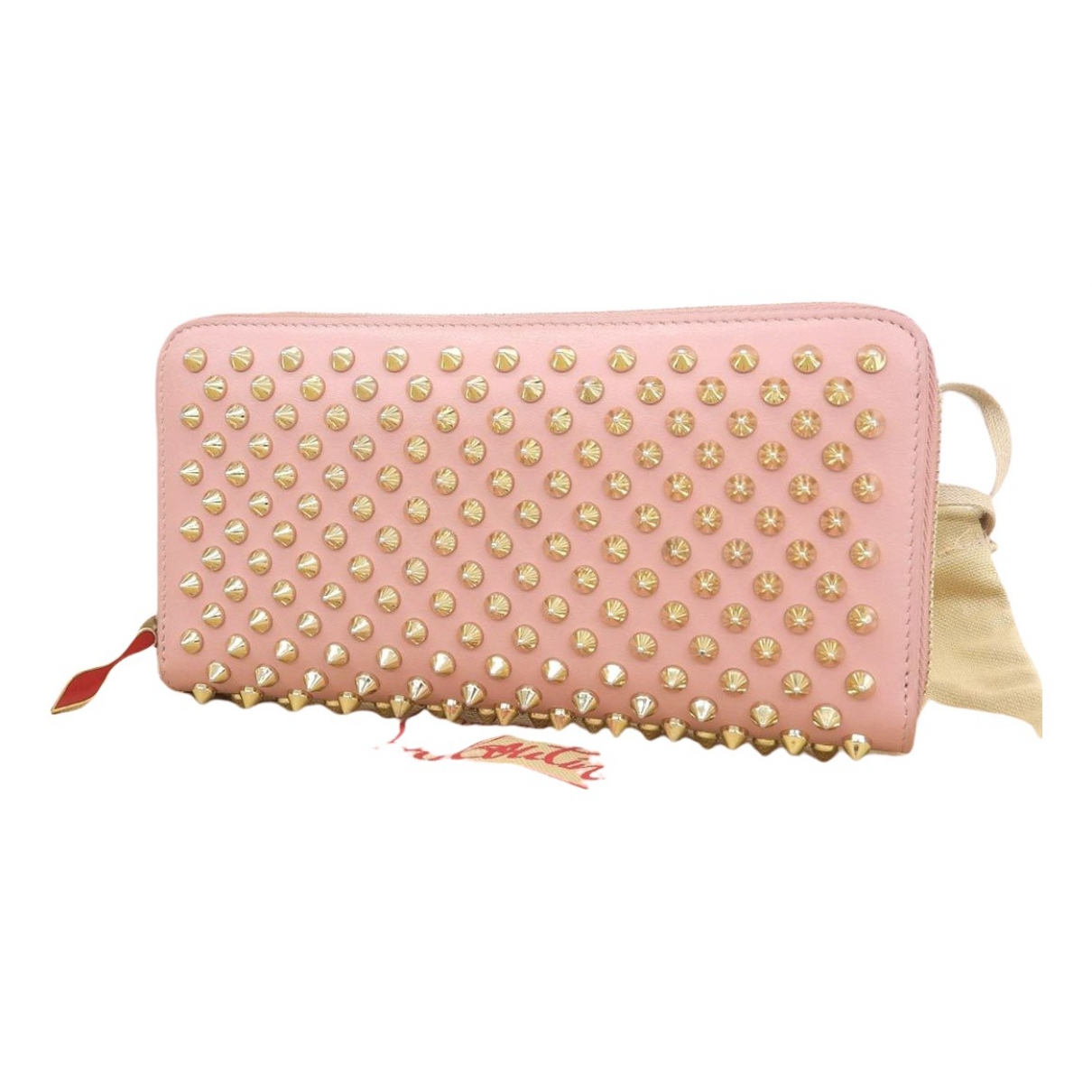 Christian Louboutin Panettone Pink Leather wallet for Women \N