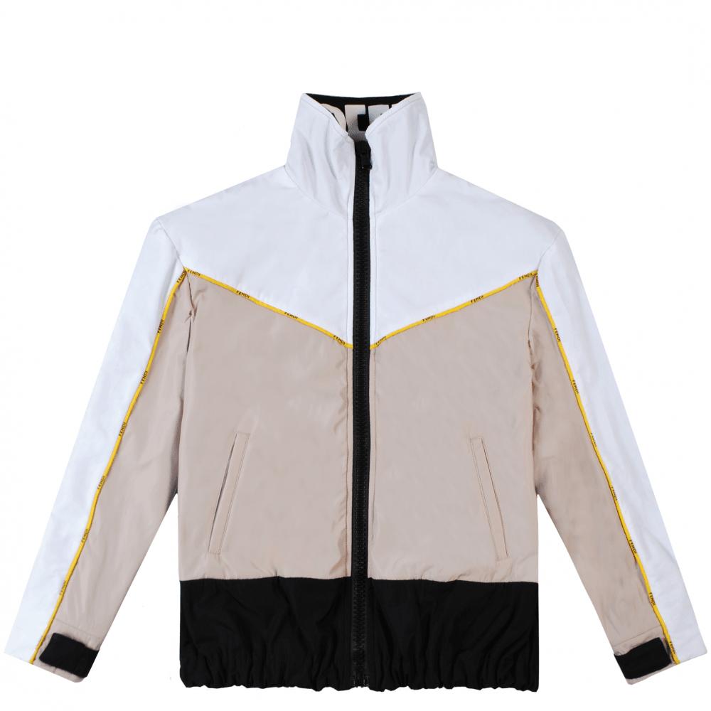 Fendi Kids Nylon K-way Jacket Colour: WHITE, Size: 12 YEARS