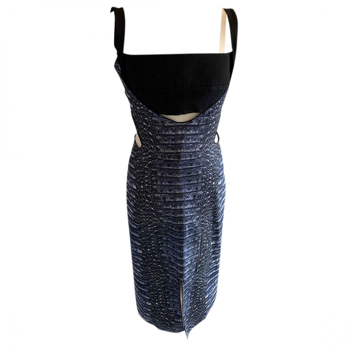 Dion Lee - Robe   pour femme en soie - bleu