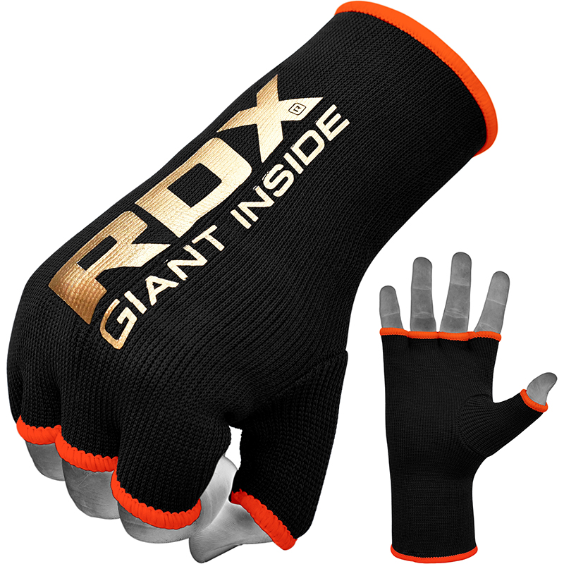 RDX IB Sous Gants Moyenne  Noir-orange Bonneterie