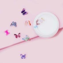10 Stuecke zufaellige Nagelkunst 3D Schmetterling Dekoration