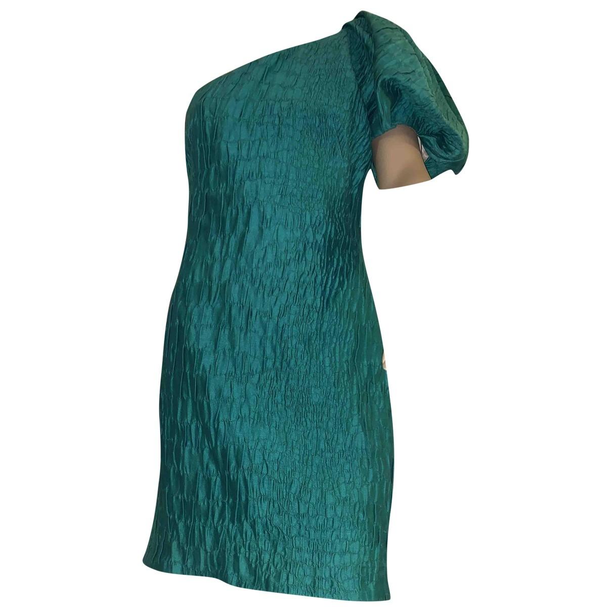 Francesco Scognamiglio \N Kleid in  Gruen Baumwolle