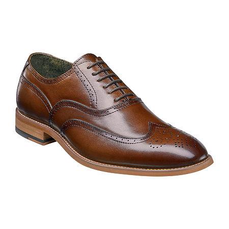 Stacy Adams Mens Dunbar Oxford Shoes, 9 Medium, Brown
