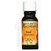 Pure Essential Oil Basil 0.5 Oz by Natures Alchemy