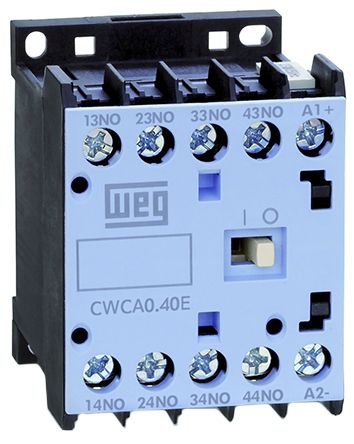 WEG Overload Relay - 3NO/NC, 10 A (AC1) Contact Rating, 24 V dc, 4P