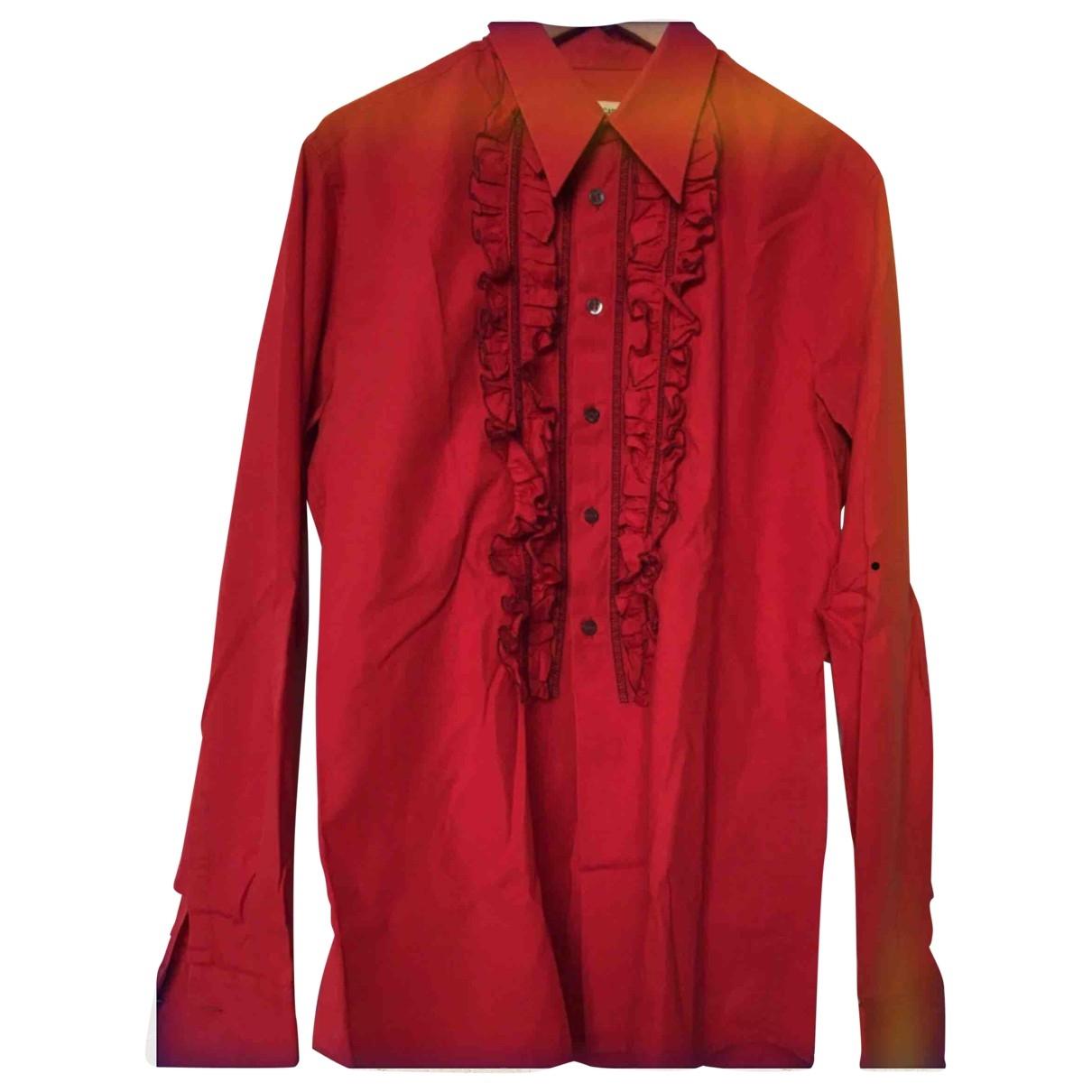 Dolce & Gabbana \N Red Cotton Shirts for Men XL International