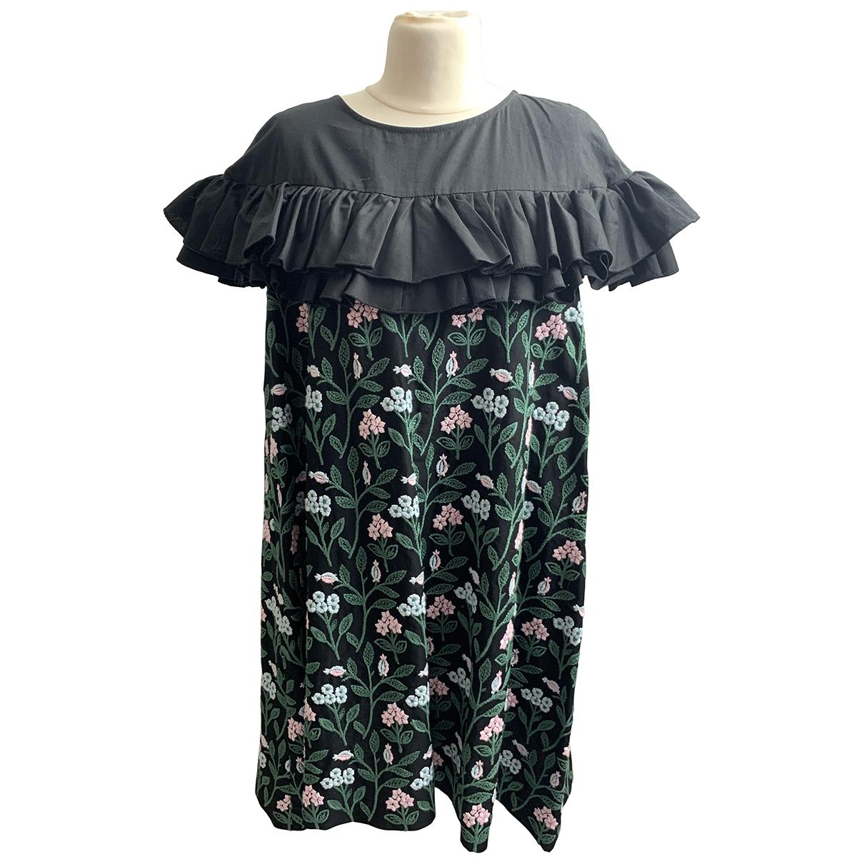 Morabito \N Kleid in  Schwarz Baumwolle