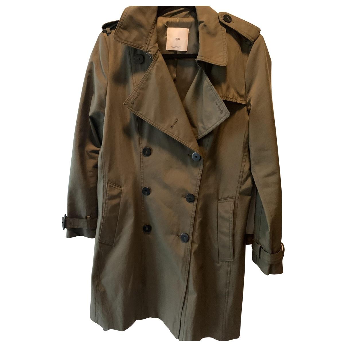 Mango \N Green Cotton Trench coat for Women L International