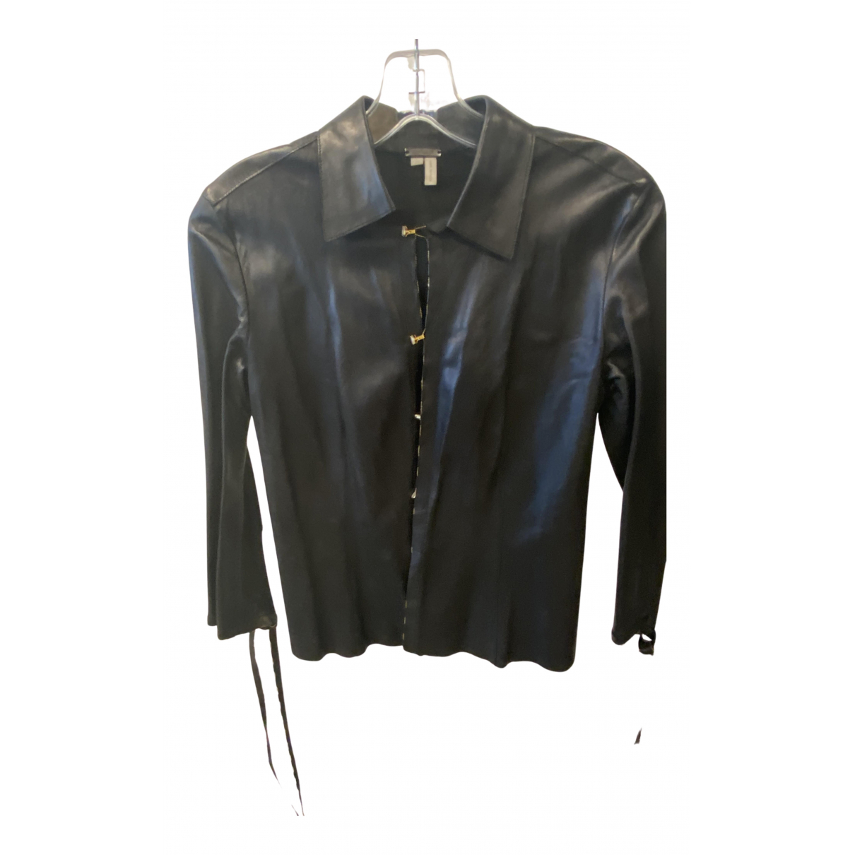 Roberto Cavalli N Black Leather  top for Women 38 IT