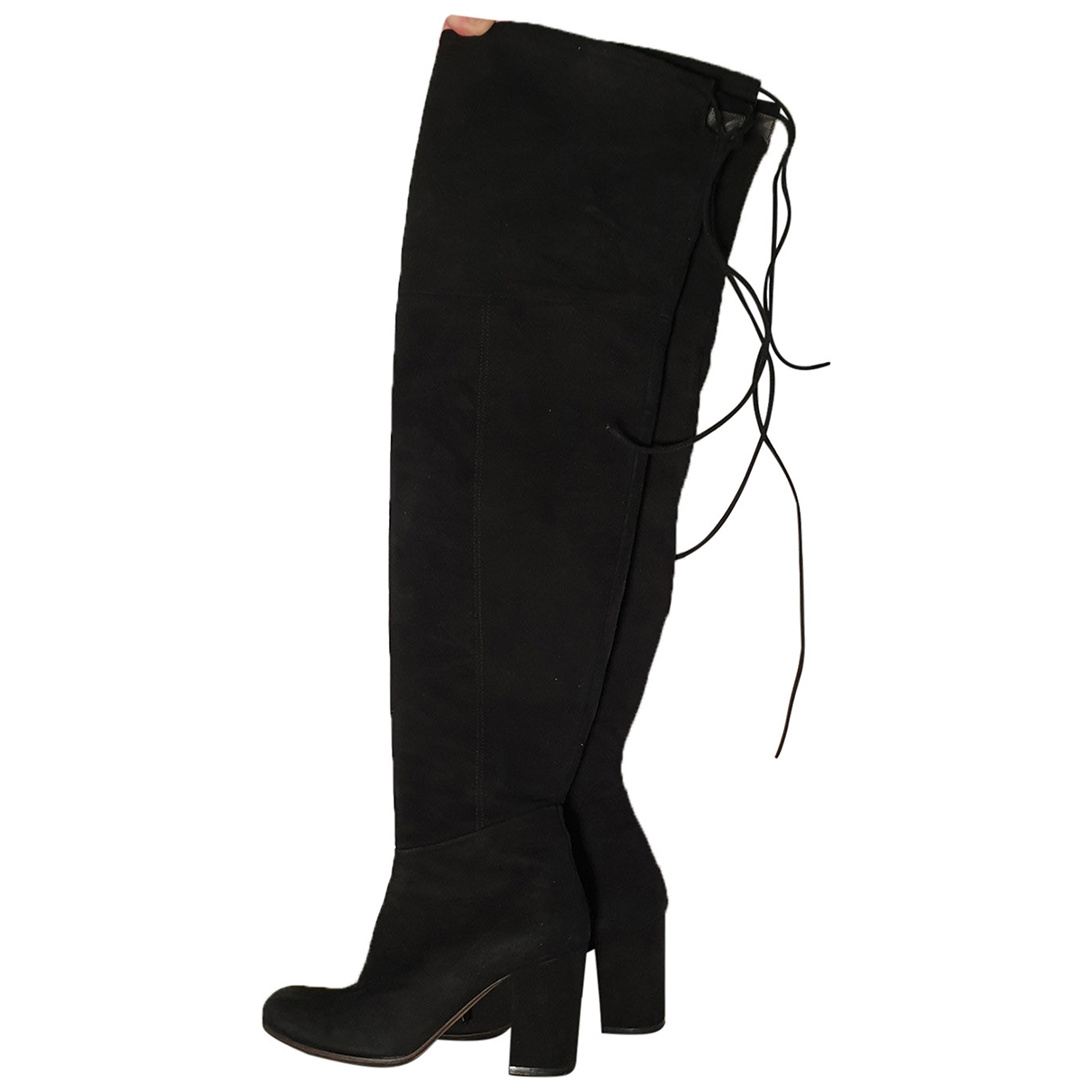 Paris Texas \N Black Suede Boots for Women 37 EU