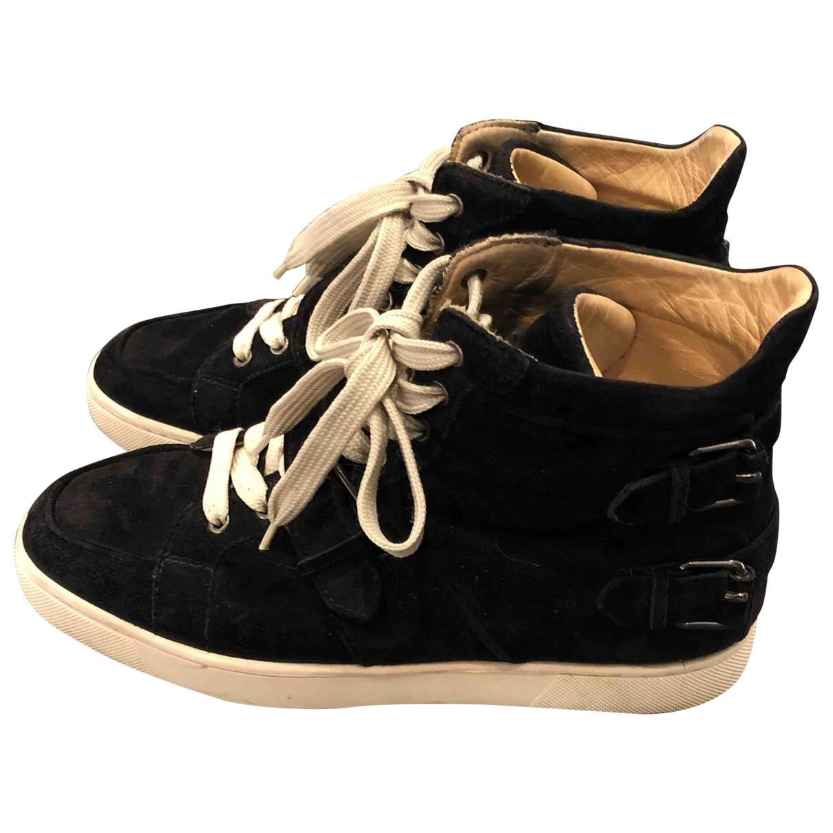 Christian Louboutin \N Sneakers in  Schwarz Veloursleder