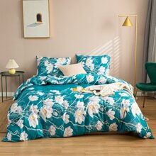 Floral Print Bedding Set Without Filler