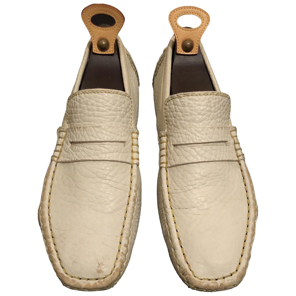 Louis Vuitton \N White Leather Flats for Men 40 EU