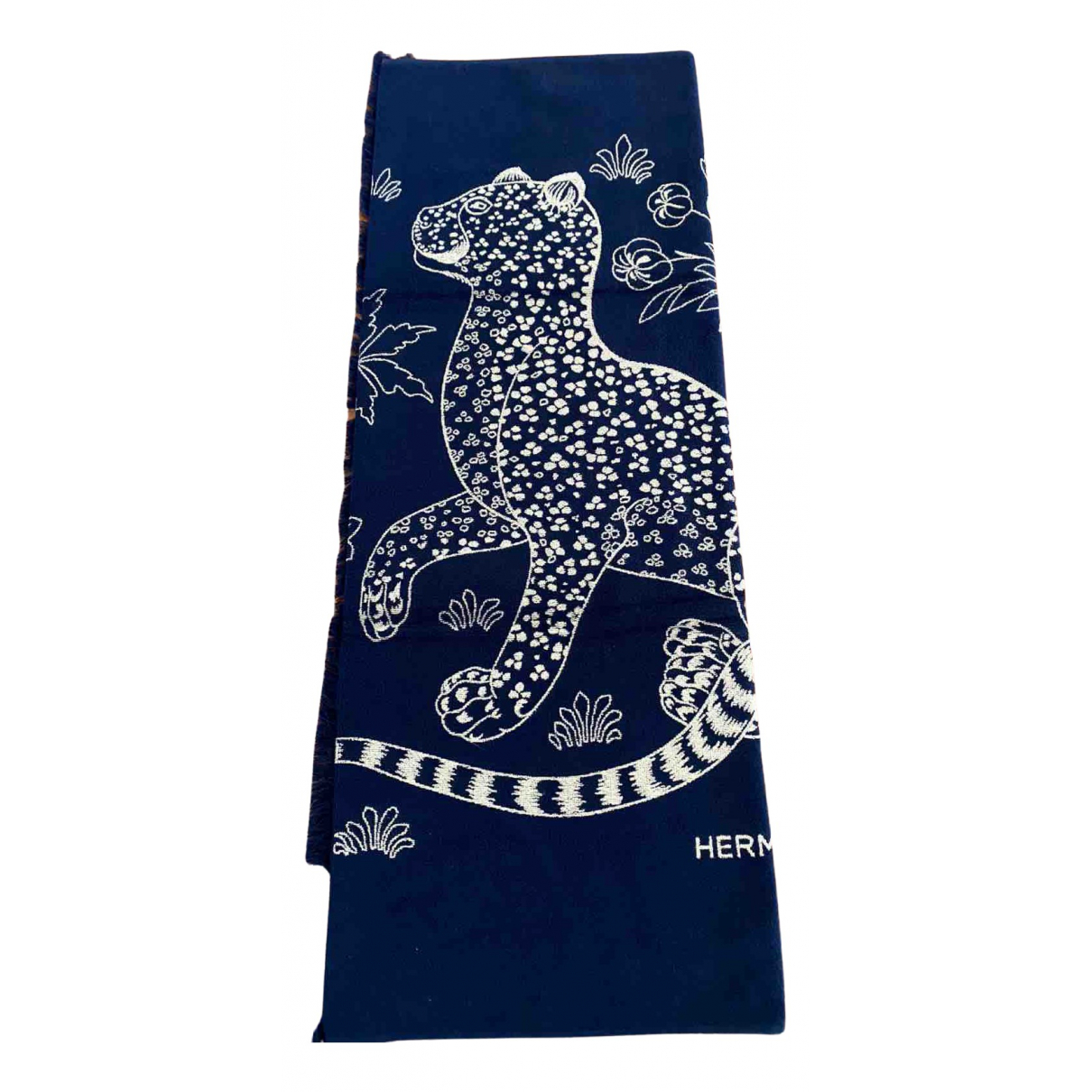 Hermes \N Heimtextilien in  Blau Baumwolle