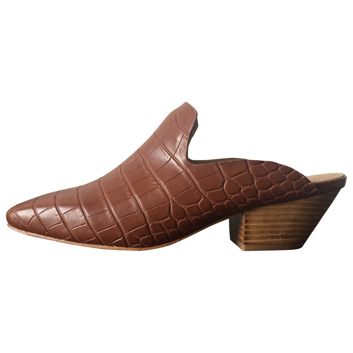 Nanushka - Sandales   pour femme en cuir - marron