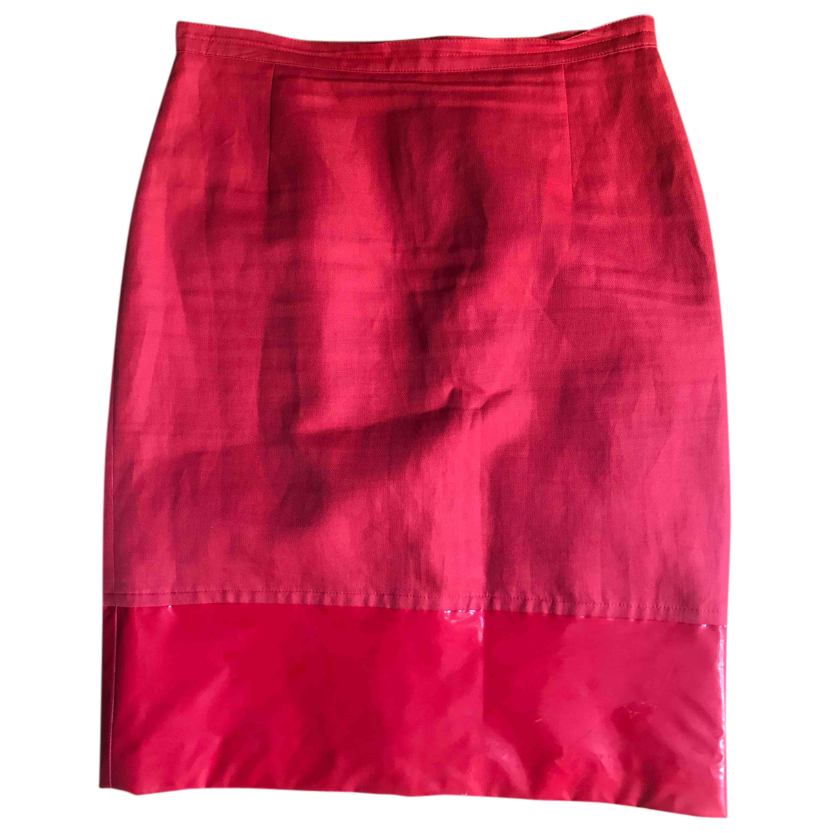 Max Mara N Red Cotton skirt for Women 42 IT