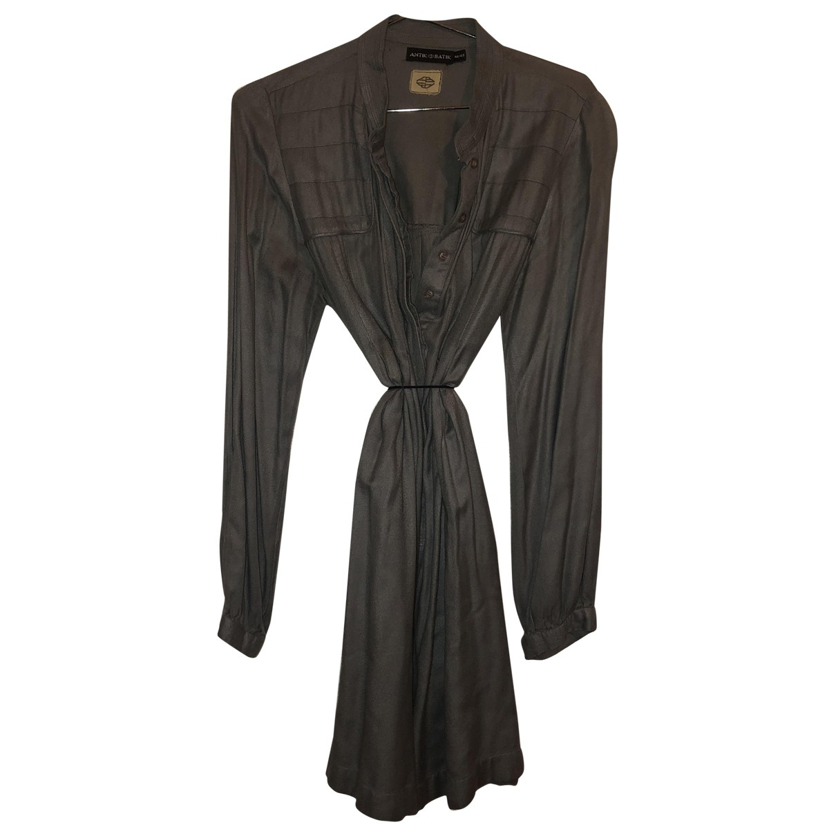 Antik Batik \N Kleid in  Grau Baumwolle
