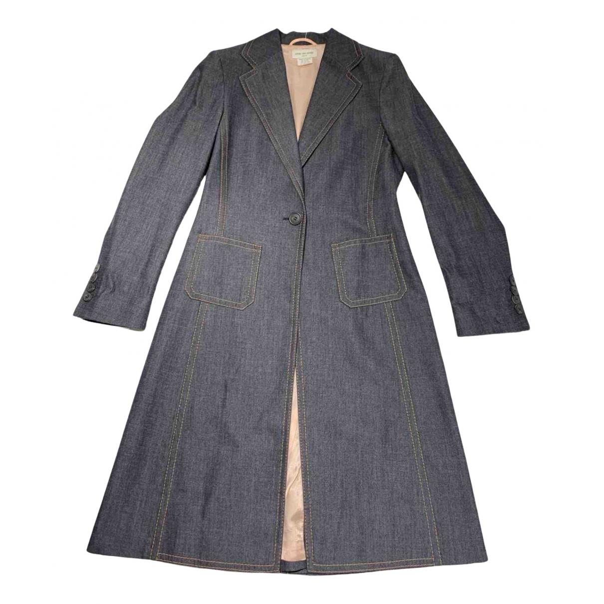 Dries Van Noten - Manteau   pour femme en laine - bleu