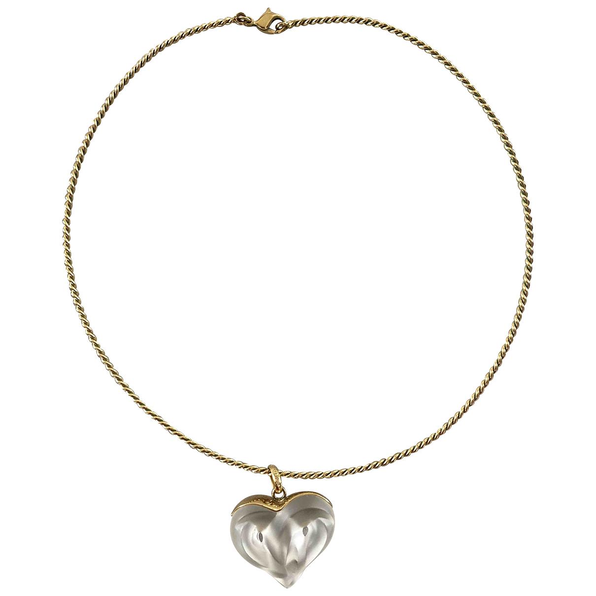 Lalique - Collier   pour femme en metal - dore