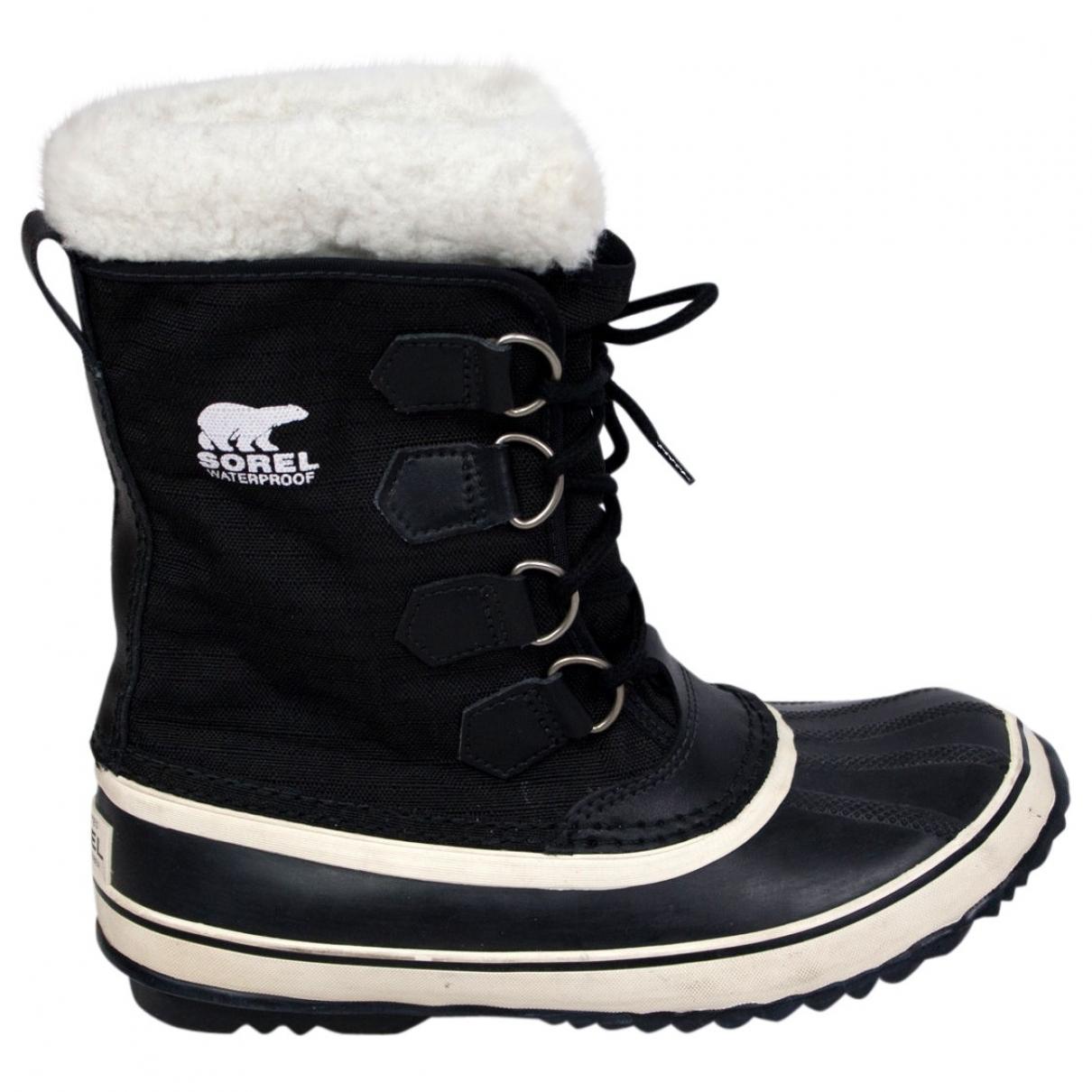 Sorel \N Black Rubber Boots for Women 7 US