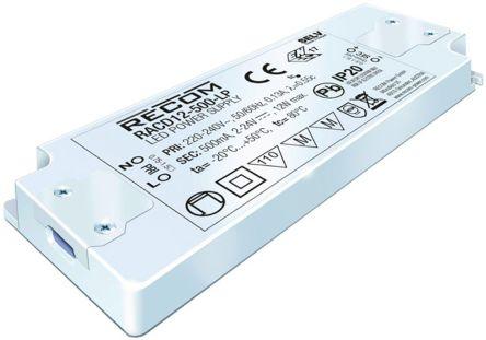 Recom RACD12-LP AC-DC Constant Current LED Driver 12W 2 → 24V dc