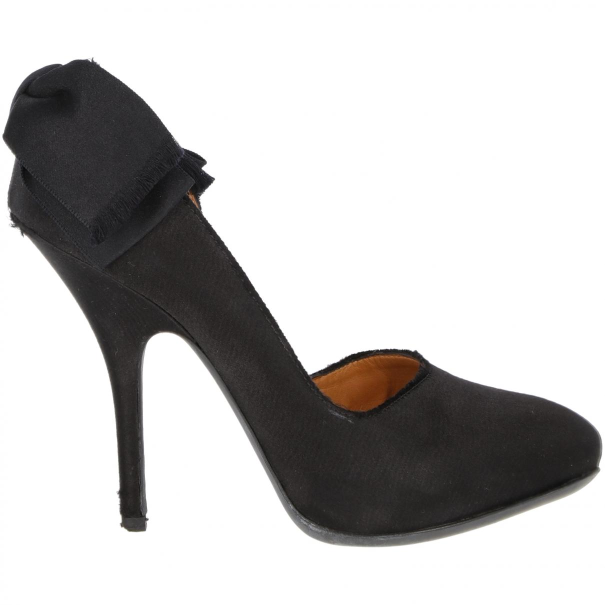 Lanvin \N Black Leather Heels for Women 37.5 EU