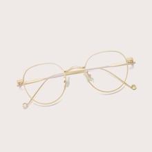 Brille mit rundem Rahmen