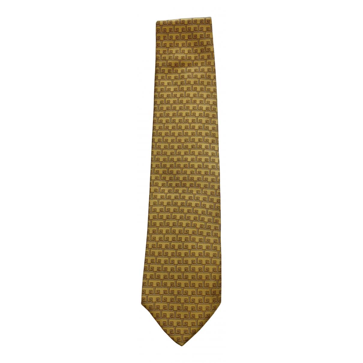 Versace - Cravates   pour homme en soie - jaune