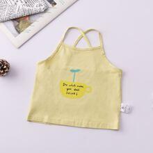 Toddler Girls Slogan Graphic Cami Top