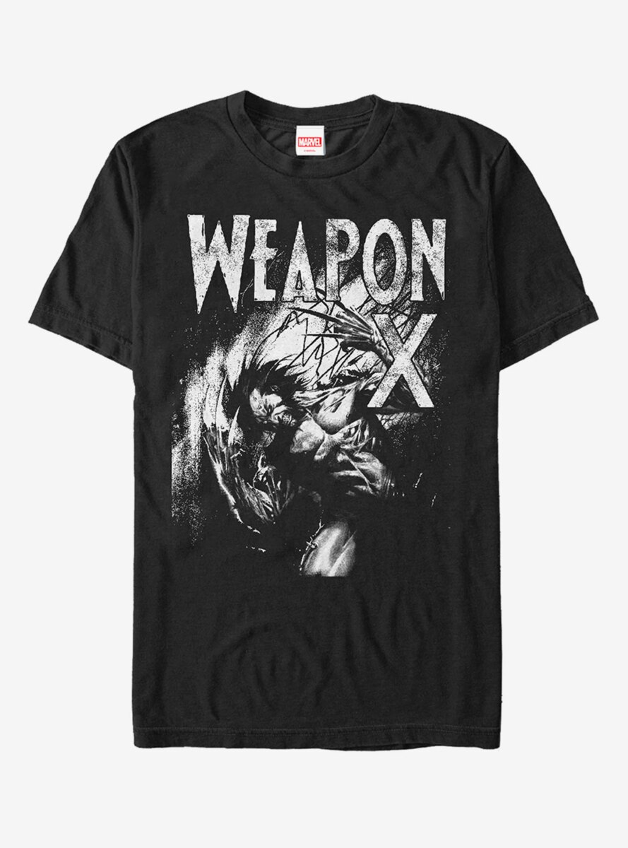 Marvel X-Men Wolverine Weapon X Grayscale T-Shirt