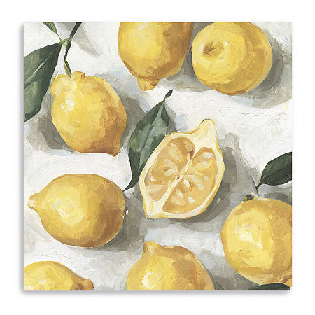 Fresh Lemons I Giclee Canvas Art, One Size , Yellow