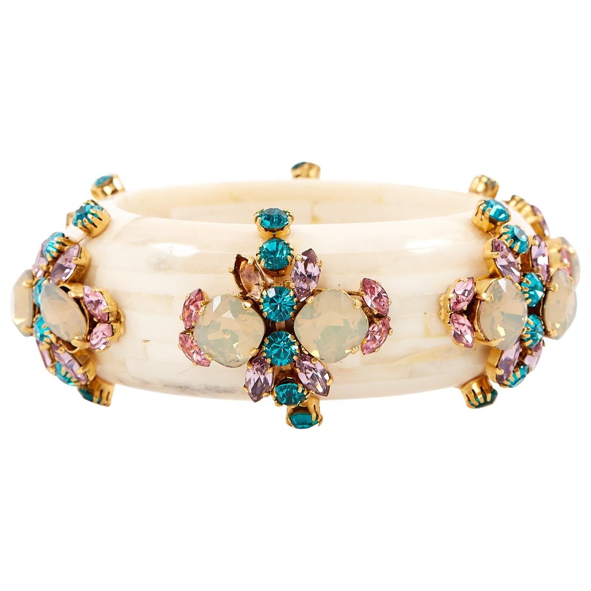 Erickson Beamon - Bracelet   pour femme en corne - ecru