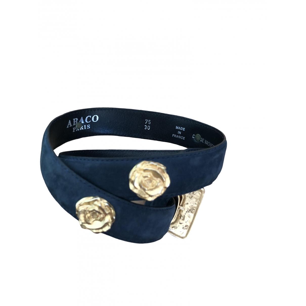 Abaco \N Guertel in  Blau Leder