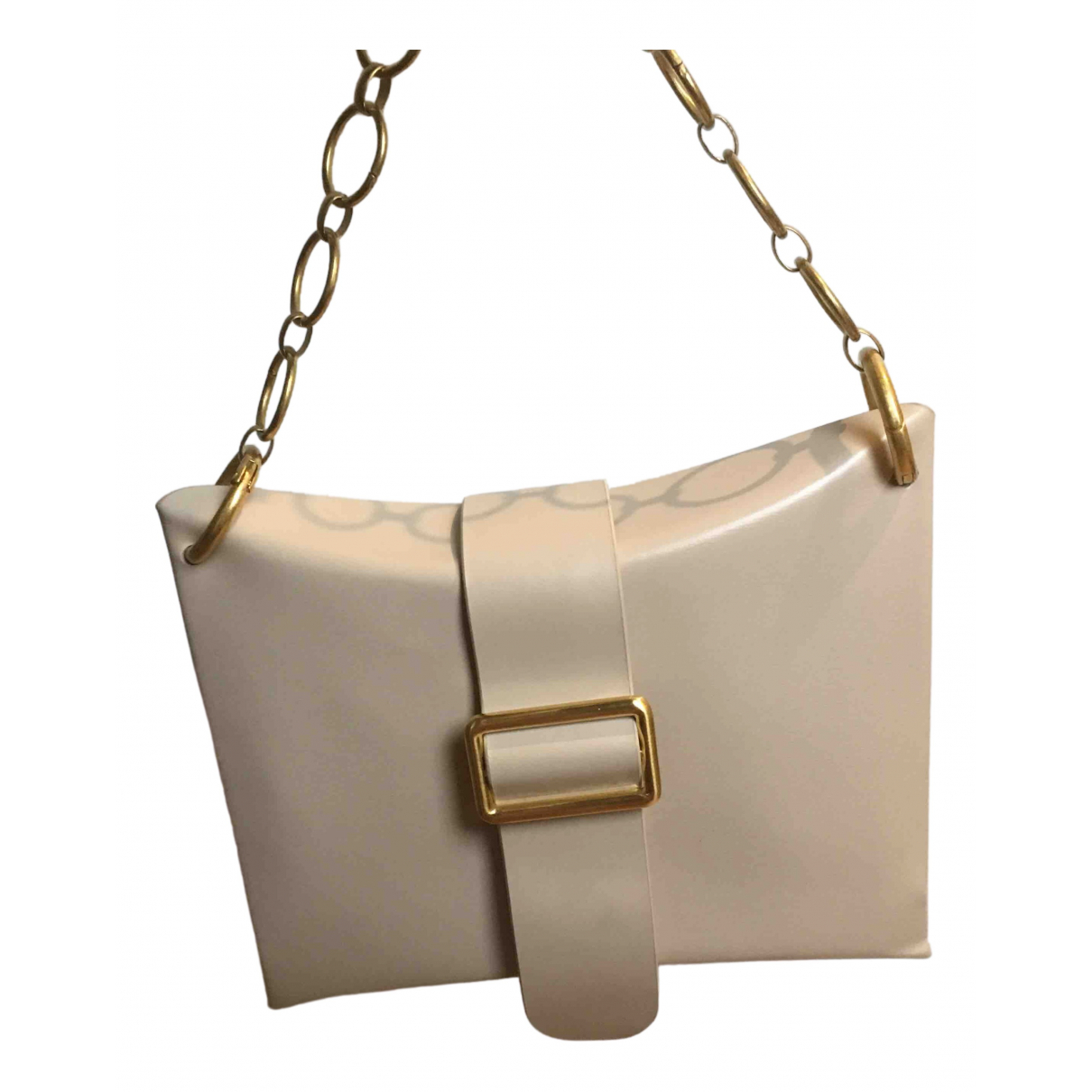 Non Signé / Unsigned N Beige Leather handbag for Women N