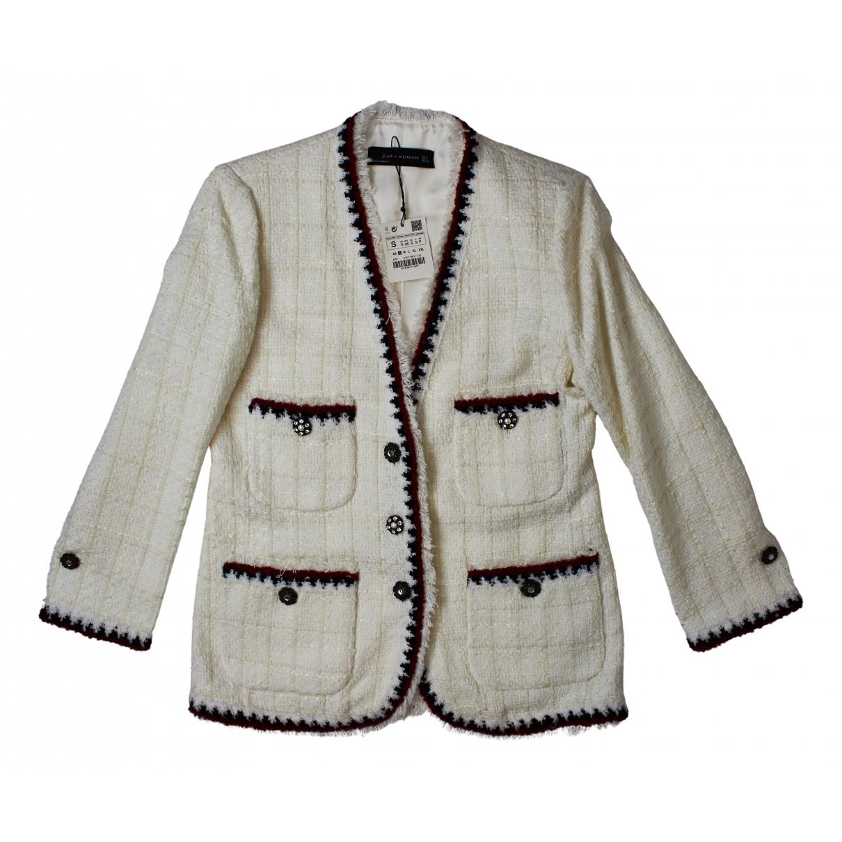 Chaqueta en Poliester Blanco Zara