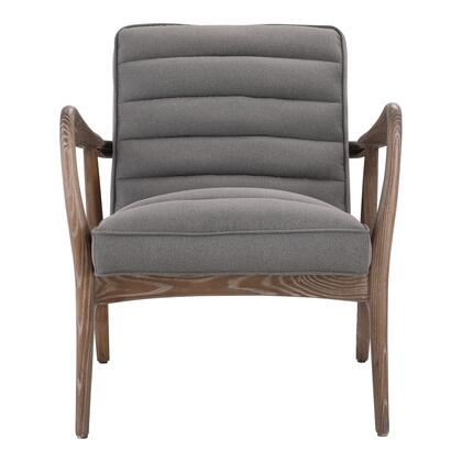 Anderson Collection PK-1098-25 Armchair with Solid Ash Wood and Plywood Construction in Gray