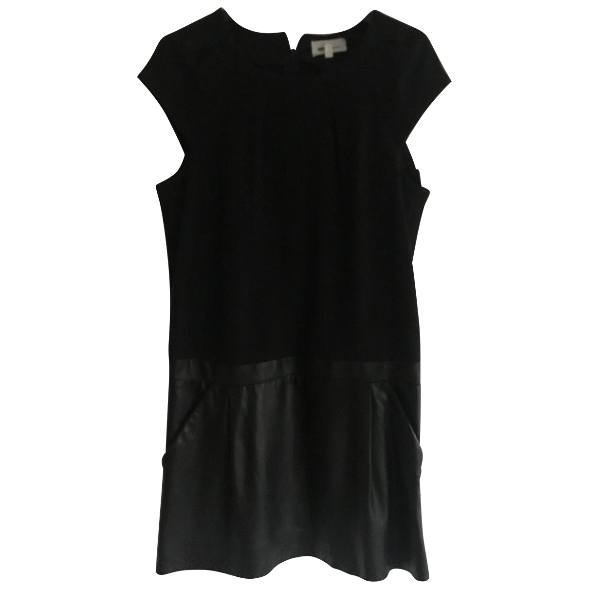 Vanessa Bruno Athe \N Black Leather dress for Women 40 FR