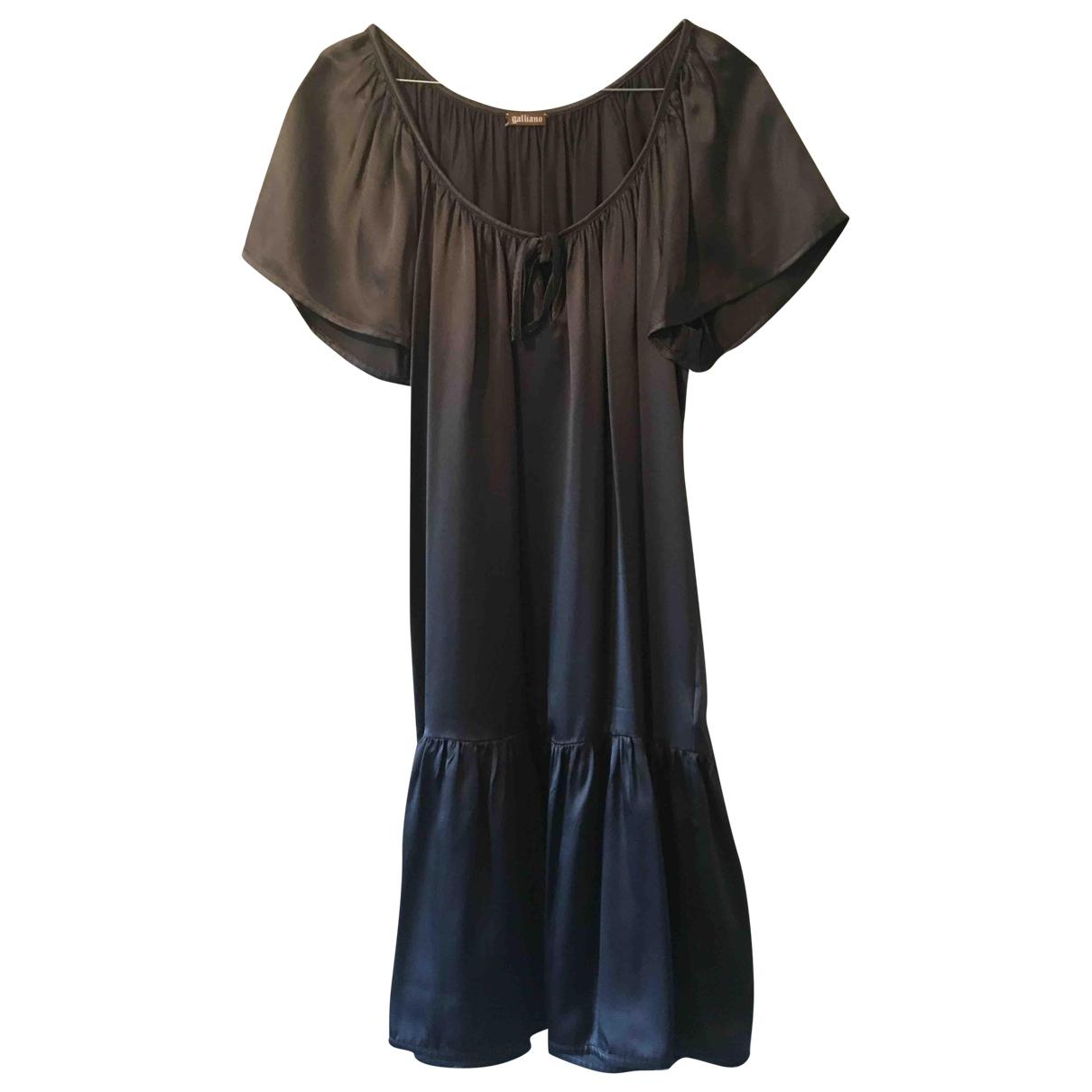 John Galliano - Robe   pour femme en soie - gris