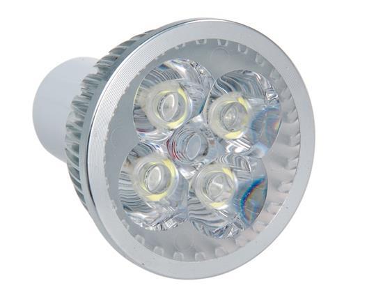 LX1713X  GU10 4 x 1W Adjustable Cool LED Spot Bulb - White