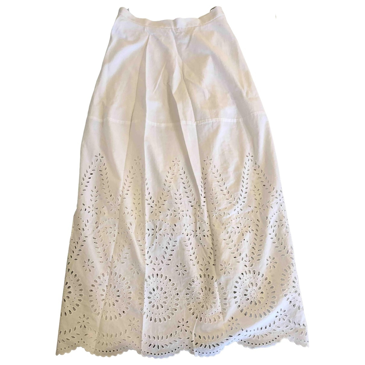 Stella Mccartney - Jupe   pour femme en coton - blanc