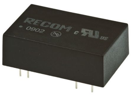 Recom REC5 5W Isolated DC-DC Converter Through Hole, Voltage in 9 → 36 V dc, Voltage out 12V dc Medical Approved