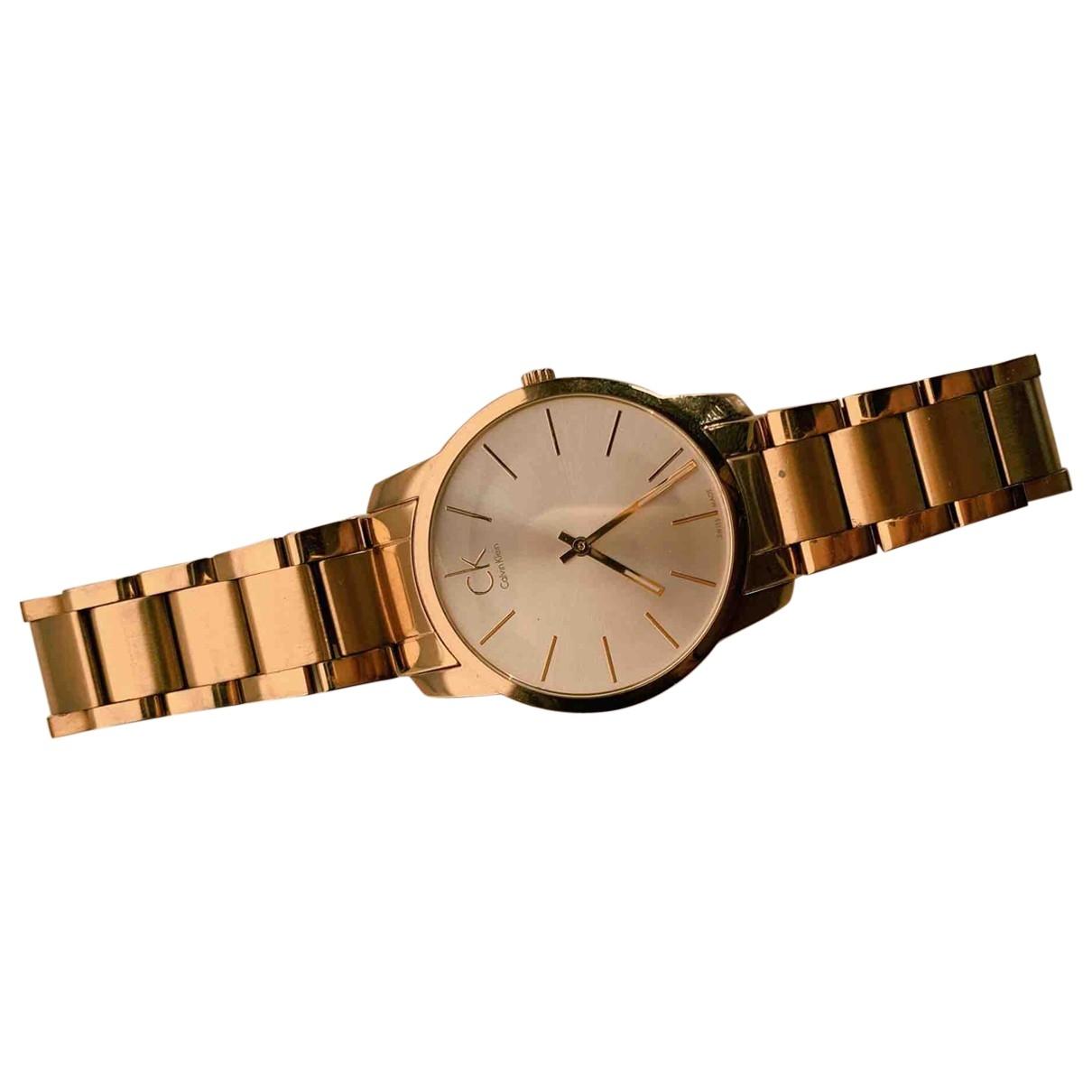 Calvin Klein \N Uhr in  Gold Stahl