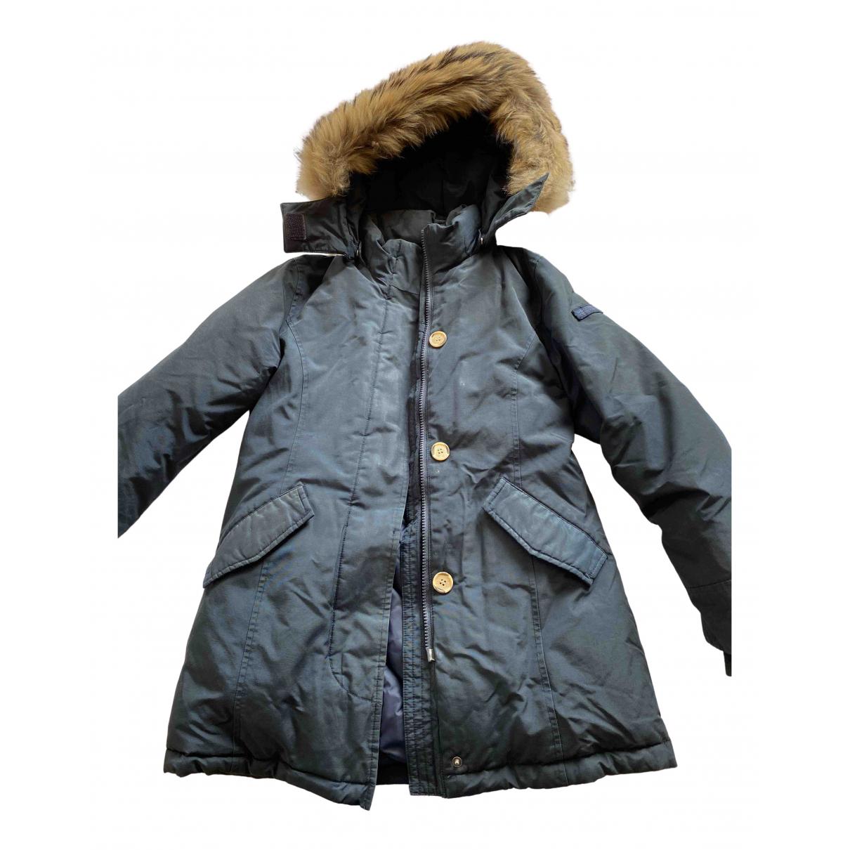 Woolrich - Blousons.Manteaux   pour enfant en fourrure - bleu