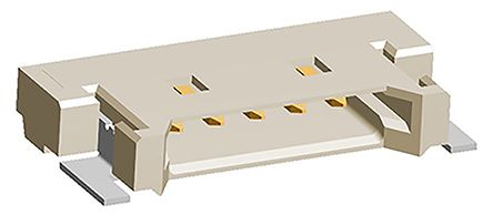 Molex , PanelMate, 53780, 5 Way, 1 Row, Right Angle PCB Header (5)